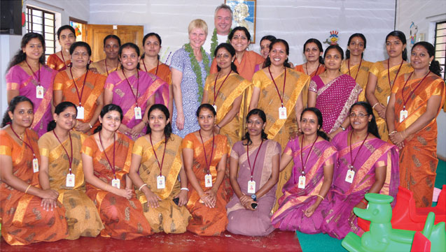 educational advisor Madeleine Wheare, UK. with our teachers